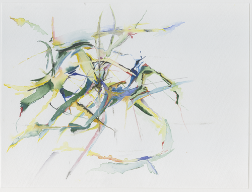 irl_4-4-3_zweige, branches in a tree, birds, water colour, 24 x 32 cm (Kirsten Kötter)