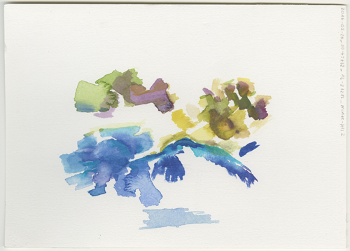 2016-08-23_39-45732_16-81212_minze-fels-2, Pietrapaola (Italy, Calabria), water colour, 17 x 24 cm (Kirsten Kötter)